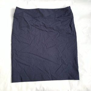 The Limited pencil skirt navy blue solid short 14W
